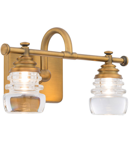 WAC Lighting WS-42514-AB Rondelle LED 6 inch Aged Brass Wall Sconce Wall Light in 14in, dweLED photo thumbnail