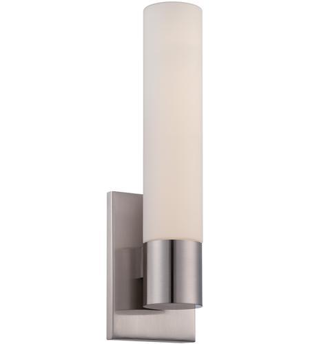 Wac Lighting Ws 7213 Bn Elementum Led 14 Inch Brushed Nickel Ada Wall Sconce Light Dweled