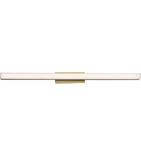 WAC Lighting WS-77636-35-BR Brink LED 36 inch Brushed Brass Vanity Light Wall Light, dweLED photo thumbnail