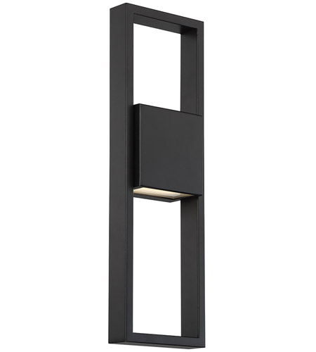 WAC Lighting WS-W13918-BK Archetype LED 18 inch Black Outdoor Wall Sconce, dweLED photo