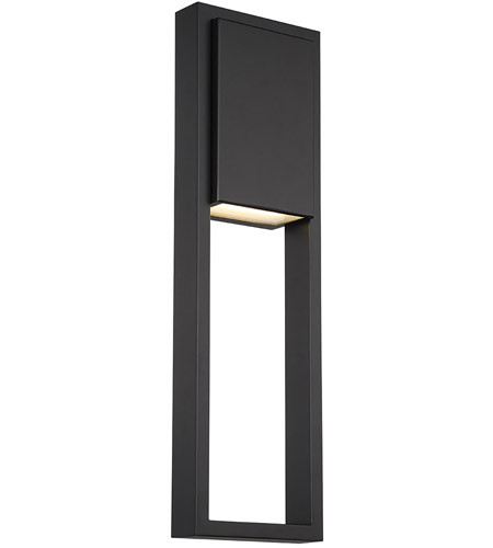 WAC Lighting WS-W15924-BK Archetype LED 3 inch Black ADA Wall Sconce Wall Light, dweLED photo