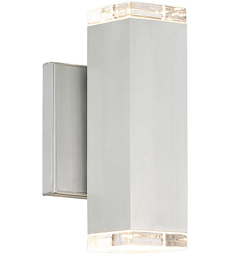 Wac Lighting Ws W61808 Al Block Led 5 Inch Brushed Aluminum Wall Light