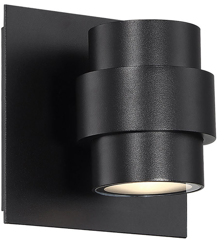 Barrel Led 5 Inch Black Outdoor Wall Sconce Dweled