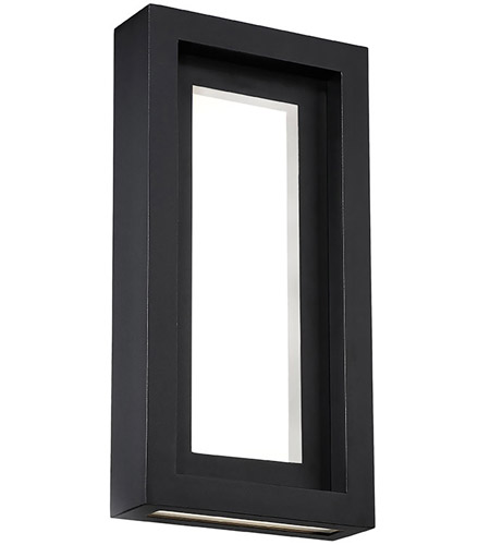 16 Inches WAC Lighting WS-W42016-BK//GO Nightvision Wall Lighting Black with Gold