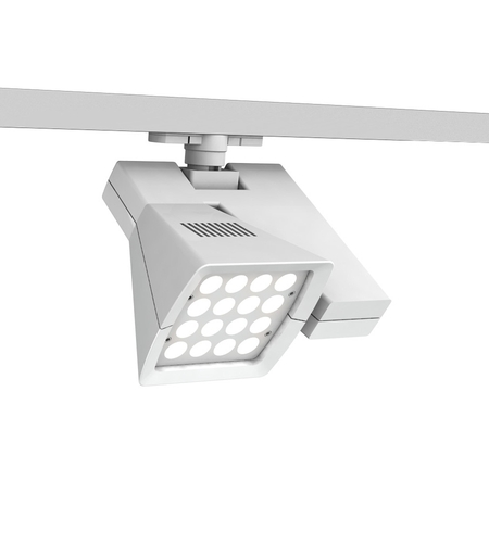 WAC Lighting WTK-LED40E-35-WT Architectural Track System 1 Light White LEDme Directional Ceiling Light in 3500K, 19 Degrees x 32 Degrees, 120 photo