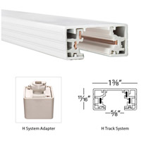 WAC Lighting HLE-WT H Track 120V White Track Connector Ceiling Light alternative photo thumbnail
