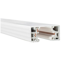 WAC Lighting HT4-WT 120V Track System White Track Section Ceiling Light in 4ft