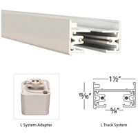WAC Lighting LI-WT 120V Track System White Track I Connector Ceiling Light in L Track alternative photo thumbnail