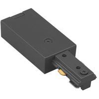 WAC Lighting JLE-BK 120v Track System Black Track Live End Connector Ceiling Light in J Track