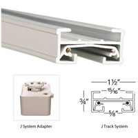 WAC Lighting JLE-WT 120V Track System White Track Live End Connector Ceiling Light in J Track alternative photo thumbnail
