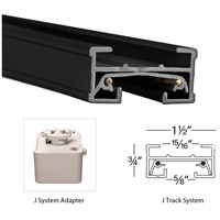 WAC Lighting JT6-BK 120V Track System Black Track Section Ceiling Light in 6ft alternative photo thumbnail