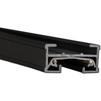WAC Lighting JT8-BK 120v Track System Black Track Section Ceiling Light in 8ft
