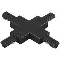 WAC Lighting JX-BK 120v Track System Black Track X Connector Ceiling Light in J Track