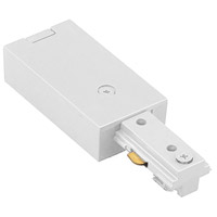 WAC Lighting LLE-WT 120v Track System White Track Live End Connector Ceiling Light in L Track