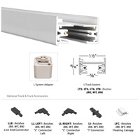 WAC Lighting LT4-WT 120v Track System White Track Section Ceiling Light in 4ft alternative photo thumbnail