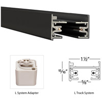 WAC Lighting LT-BK 120V Track System Black Track T Connector Ceiling Light in L Track alternative photo thumbnail