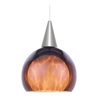 WAC Lighting Line Volt Pendant Globe Glass Shade in Amber PLD-G403-AM