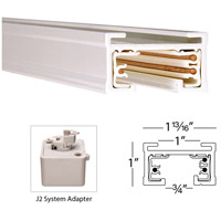 WAC Lighting J2-LE-WT 120V Track System White Track Live End Connector Ceiling Light in J2 alternative photo thumbnail
