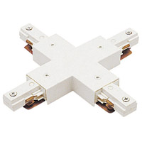 WAC Lighting J2-X-WT 120V Track System White Track X Connector Ceiling Light in J2