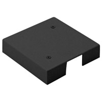 WAC Lighting J2-UCP-BK 120v Track System Black Octogon Box Cover Ceiling Light