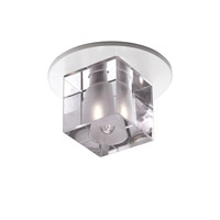 WAC Lighting Beauty Spot-Crystal Cube-Clear in Clear DR-G355-CL