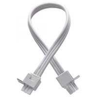 Undercabinet Lighting 12 inch White Undercabinet Interconnect Cable in 12in