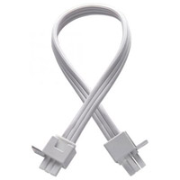 Undercabinet Lighting 24 inch White Undercabinet Interconnect Cable in 24in