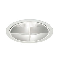WAC Lighting Rec. Line Volt Trim Cross Louver in Satin Aluminum R6VT-33-SA