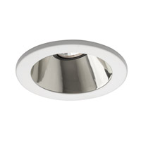 WAC Lighting Rec. Low Volt Trim Open Reflector in Clear/White HR-D412-SC/WT