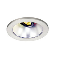 WAC Lighting Rec. Low Volt Trim Open Reflector in Clear/Brushed Nickel HR-D412-SC/BN