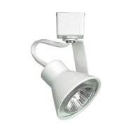 WAC Lighting H Series Line Voltage Track Head With LED Gu10 Bulb Included in White HTK-103LED-WT