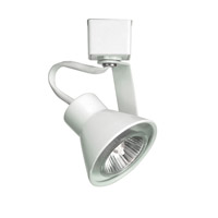 WAC Lighting J Series Line Voltage Track Head With LED Gu10 Bulb Included in White JTK-103LED-WT