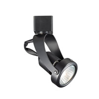 WAC Lighting H Series Line Voltage Track Head With LED Gu10 Bulb Included in Black HTK-104LED-BK