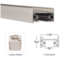 WAC Lighting LT6-BN 120V Track System Brushed Nickel Track Section Ceiling Light in 6ft alternative photo thumbnail