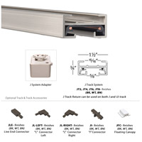 WAC Lighting JT8-BN 120V Track System Brushed Nickel Track Section Ceiling Light in 8ft alternative photo thumbnail