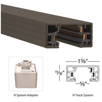 WAC Lighting HL-RIGHT-DB H Track 120V Dark Bronze Track Connector Ceiling Light alternative photo thumbnail