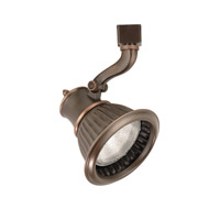 120V Track System 1 Light 120V Antique Bronze Line Voltage Directional Ceiling Light in J Track