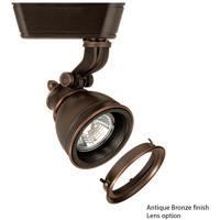 WAC Lighting HHT-874L-LENS-AB 120V Track System 1 Light 12V Antique Bronze Low Voltage Directional Ceiling Light in 75, With Lens, H Track