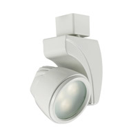 120V Track System 1 Light White LEDme Directional Ceiling Light in 3000K, 25 Degrees, L Track