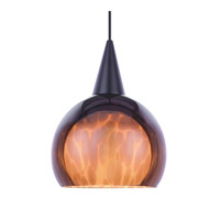 WAC Lighting Liza Pendant For Canopy Mount - A19 in Black PLD-F4-403AM/BK