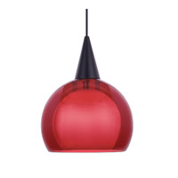 WAC Lighting Nova Pendant For Canopy Mount - A19 in Black PLD-F4-403RD/BK