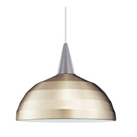 Cosmopolitan LED 7 inch Brushed Nickel Pendant Ceiling Light in 12, Canopy Mount PLD