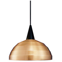 WAC Lighting PLD-F4-404CO/BK Cosmopolitan 1 Light 7 inch Black Pendant Ceiling Light in 100 Copper Canopy Mount PLD