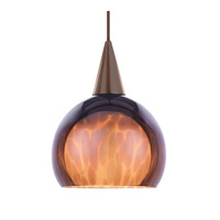 WAC Lighting Creamery Pendant For Canopy Mount - A19 in Dark Bronze HM1-F4-403AM/DB