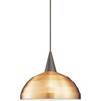 WAC Lighting JTK-F4-404CO/BN Cosmopolitan 1 Light 12 inch Brushed Nickel Pendant Ceiling Light in 100 Copper J Track