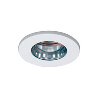 WAC Lighting 3in Shower Light Flat Glass C 25Deg Adj in White HR-D329-S-WT