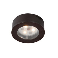 WAC Lighting Led Round Button Lights 3X1W 3000K in Dark Bronze HR-LED85-DB