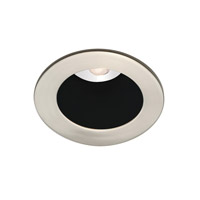 Recessed Lighting LED Brushed Nickel Recessed Trim Ceiling Light in Black
