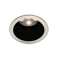 WAC Lighting Led 4In Open Trim Round Invisible Trim in Black/Brushed Nickel HR-LED411TL-BK/BN