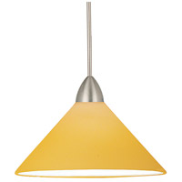 WAC Lighting MP-512-AM/BN Contemporary 1 Light 5 inch Brushed Nickel Pendant Ceiling Light in Amber (Contemporary), Canopy Mount MP